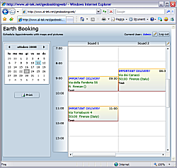 GeoBooking, Silverlight application